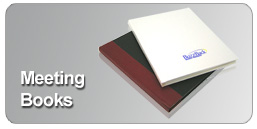custom bound meeting books