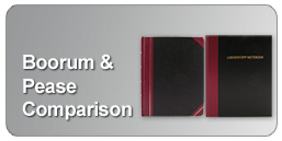 Boorum and Pease comparison with BookFactory ruled lab notebooks