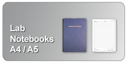 A4 and A5 lab notebooks