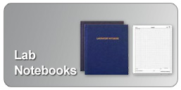 lab notebooks with grid or ruled formats in various sizes